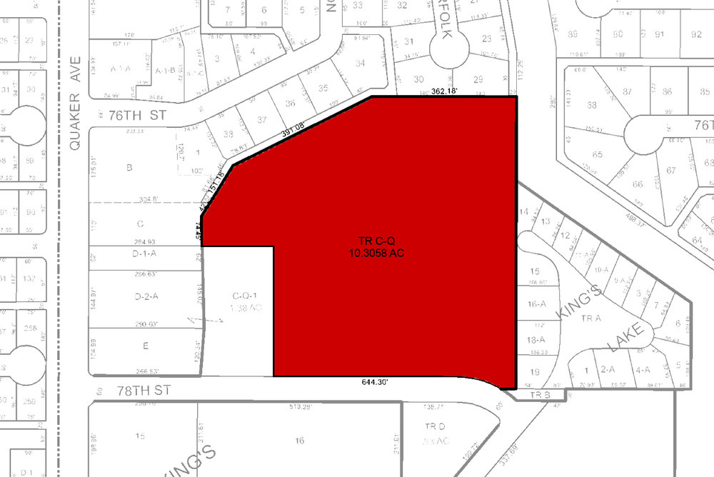 - This property is a 10.3 acre tract of land that is right in the middle of the city! It sits close to Starbucks, Abuela's Mexican Restaurant, Chipotle, Burger King, Fazoli's, Wal-Mart Supermarket, and the Kingsgate Center.There are lots of possibilities with this land!Want more information? Click here!