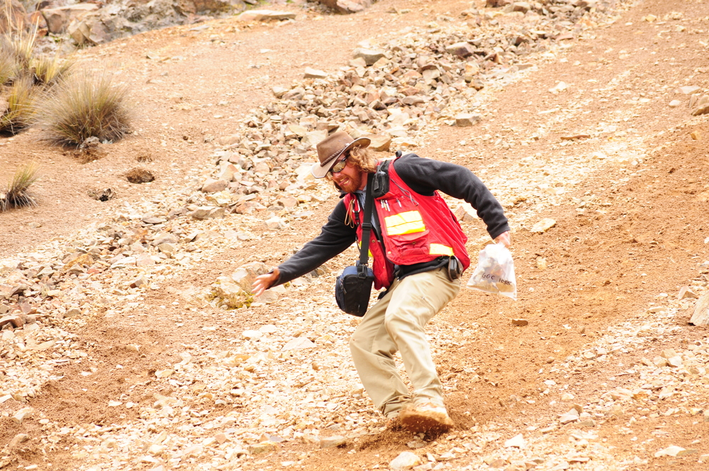 Grab sampling in the Peruvian Andes