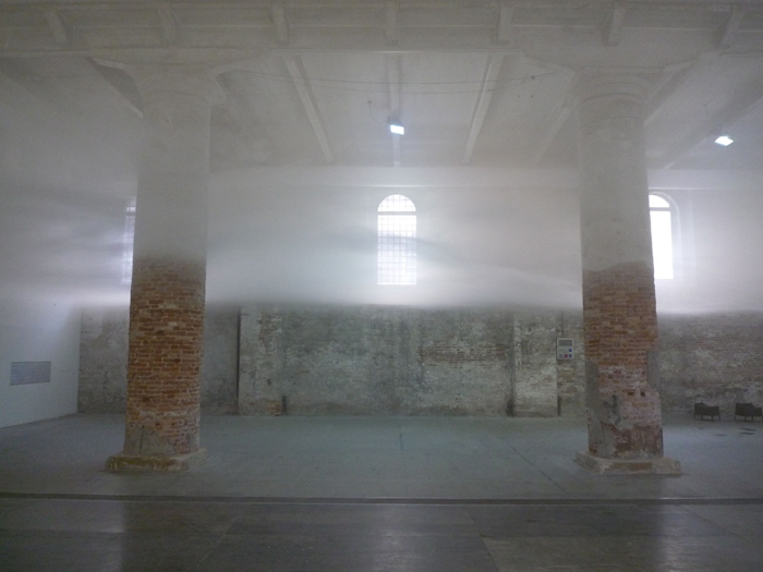 Japanese architects  Tetsuo Kondo  Cloudscapes  artificial cloud installation filling an exhibition space at the Venice Architecture Biennale