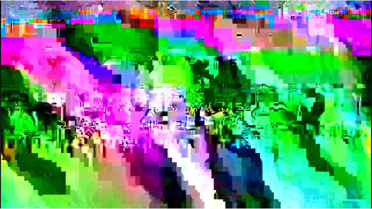 my hulu video stream dissolved into this beautiful glitch last night.