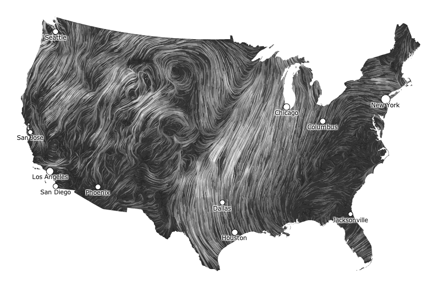 HINT.FM 's hypnotic  Wind Map