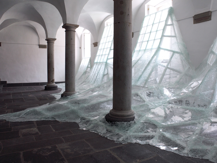 Baptiste Debombourg's Aérial  installation at the former Brauweiler Abbey in Pulham Germany