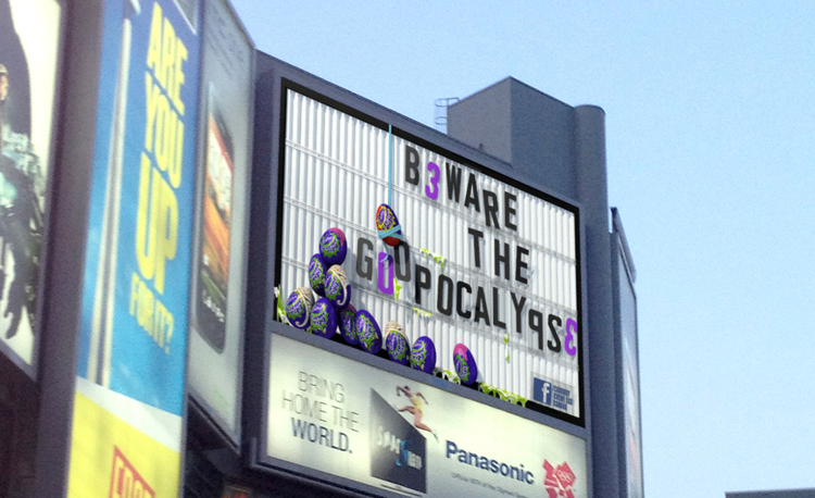 Billboard in Dundas Square, Toronto