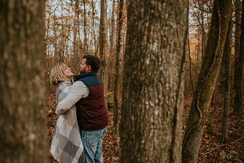 Woodland fall engagement
