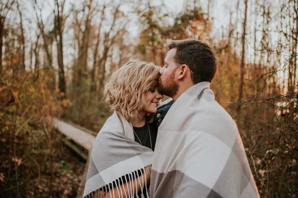 Romantic Fall Engagement Session in the Woods | Maria Newman Photography