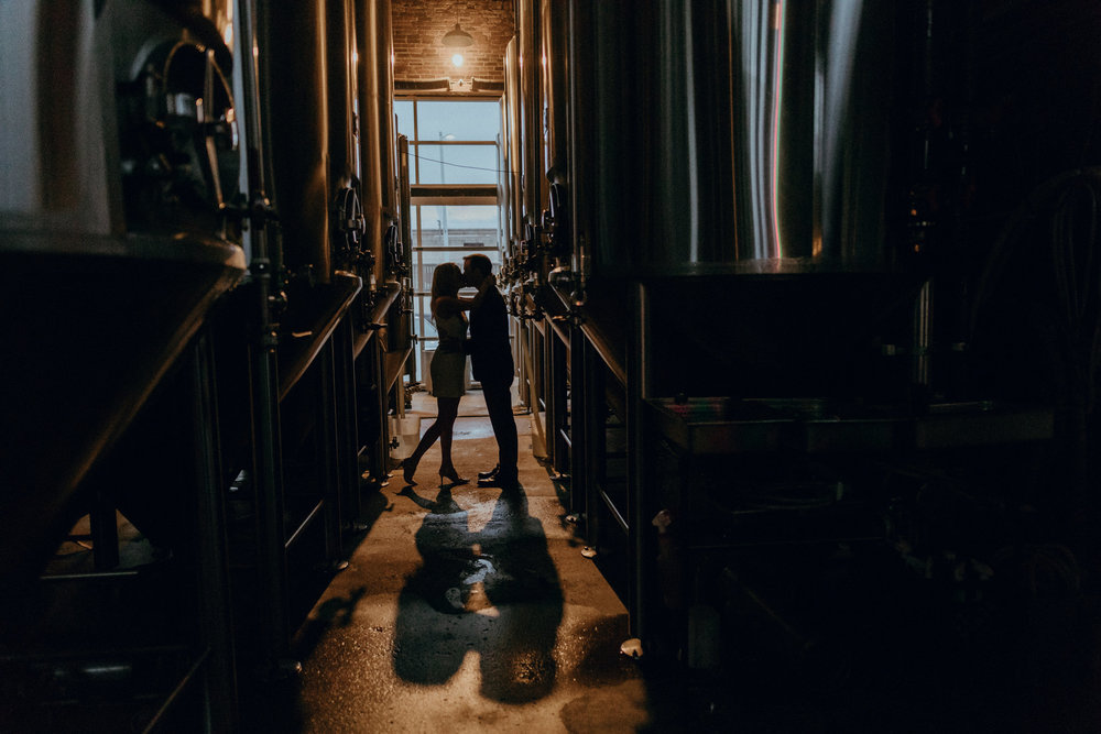 St. Louis, Missouri Brewery Engagement Photography