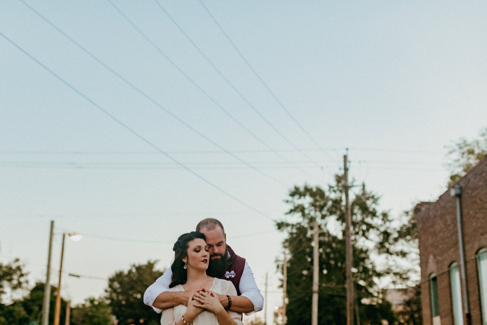 Downtown Hattiesburg, Mississippi Engagement Photography