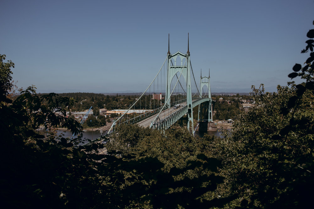 St. John's Bridge in Portland, Oregon