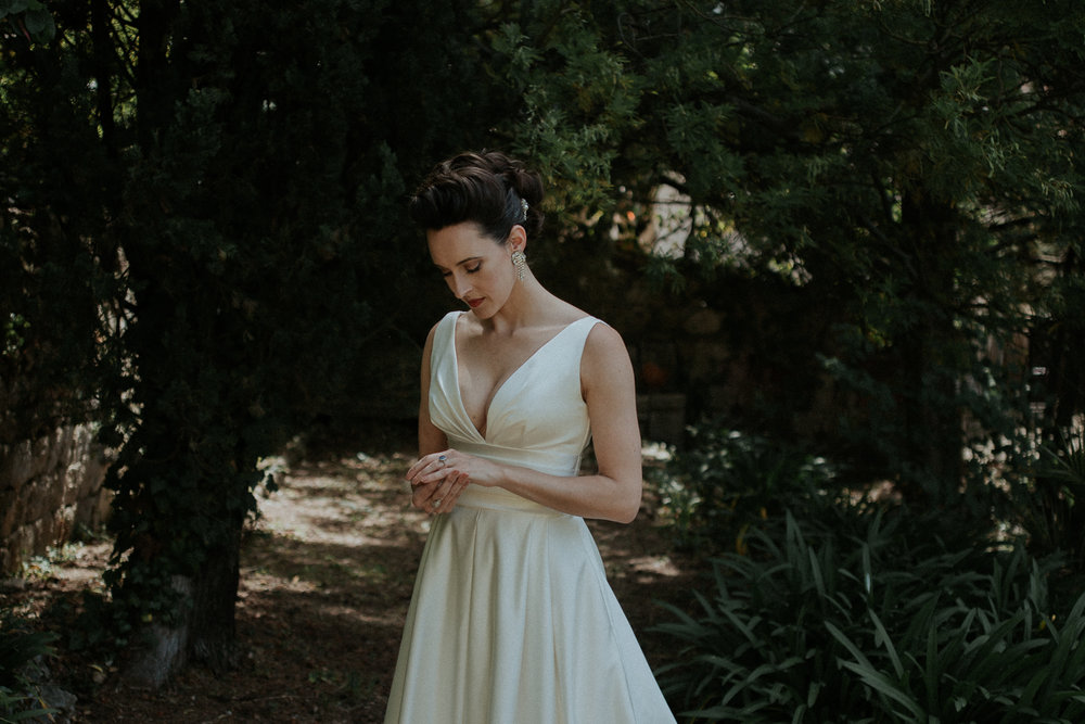 Beautiful bride in Grasse, France