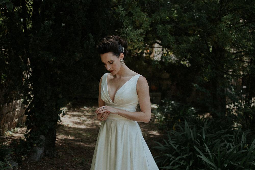 Beautiful bride in Grasse, France