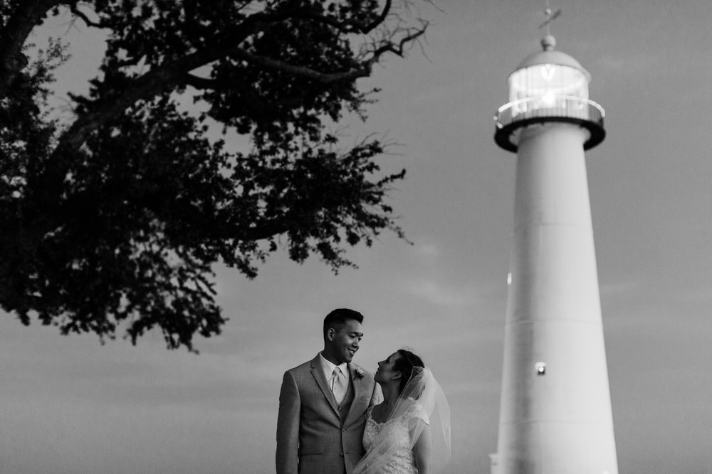 Biloxi lighthouse wedding