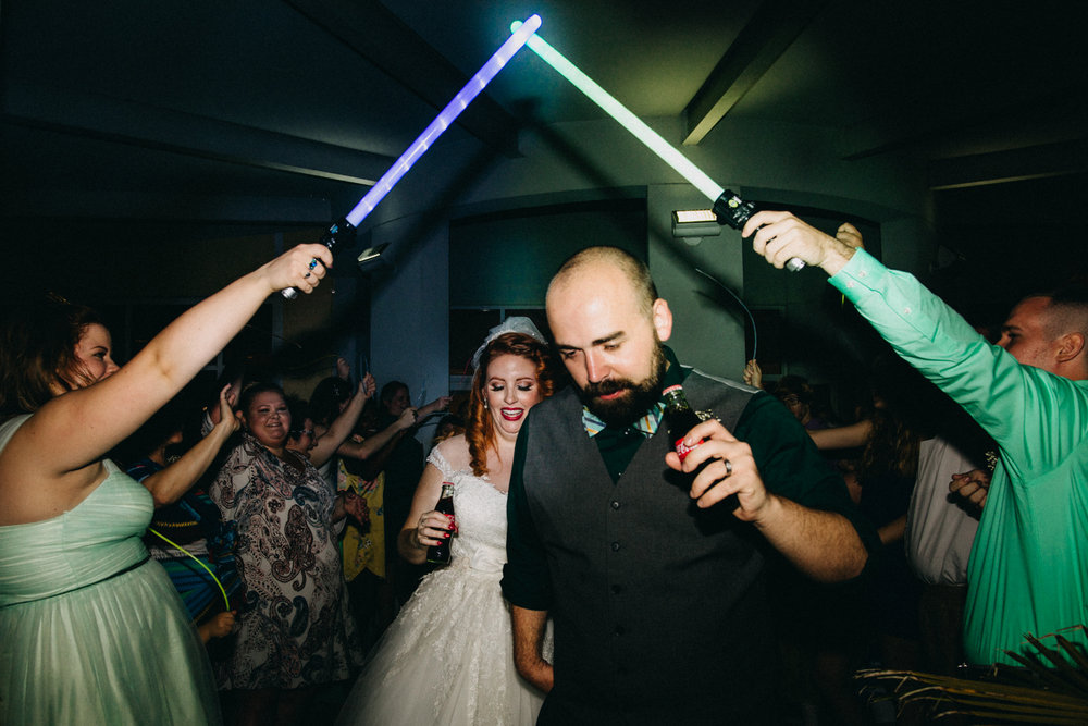 Star Wars wedding exit