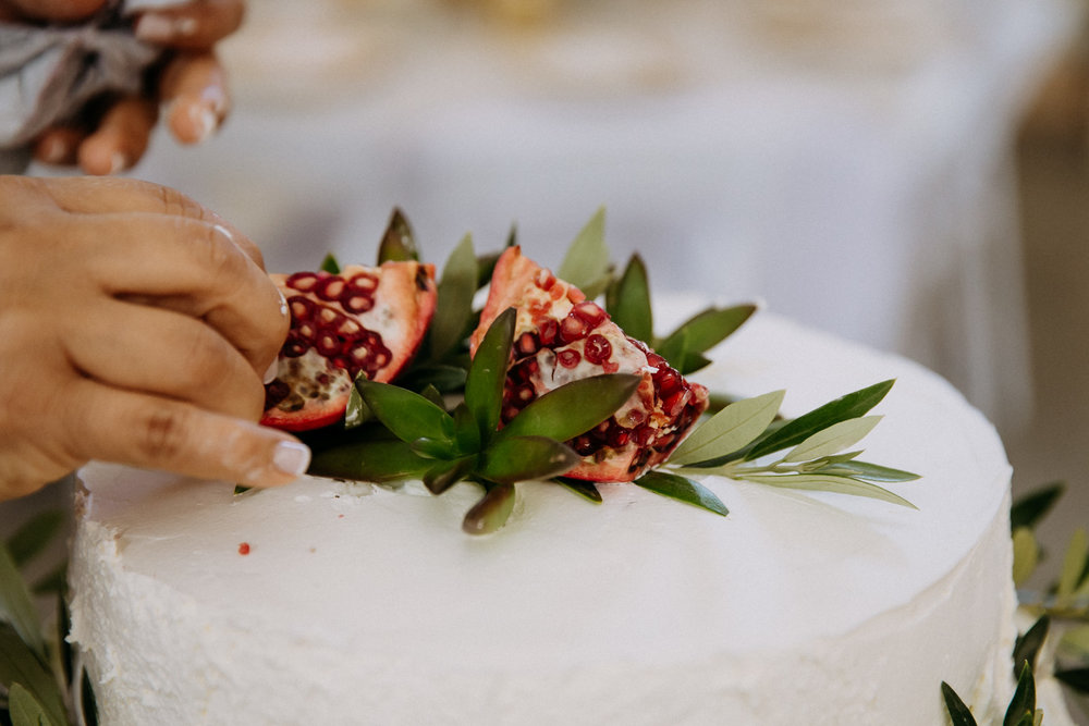 Pomegranate cake topper