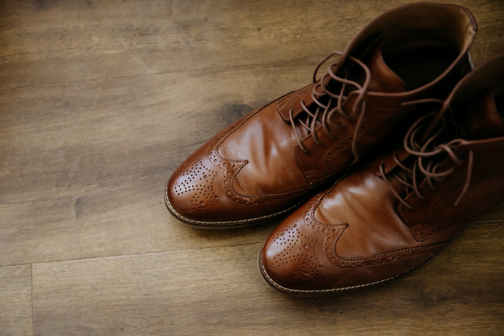 Groom's brown dress boots