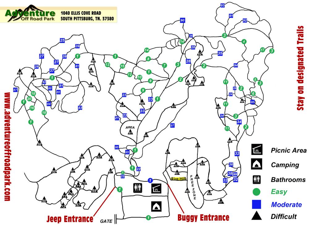 Current AOP Trails Map