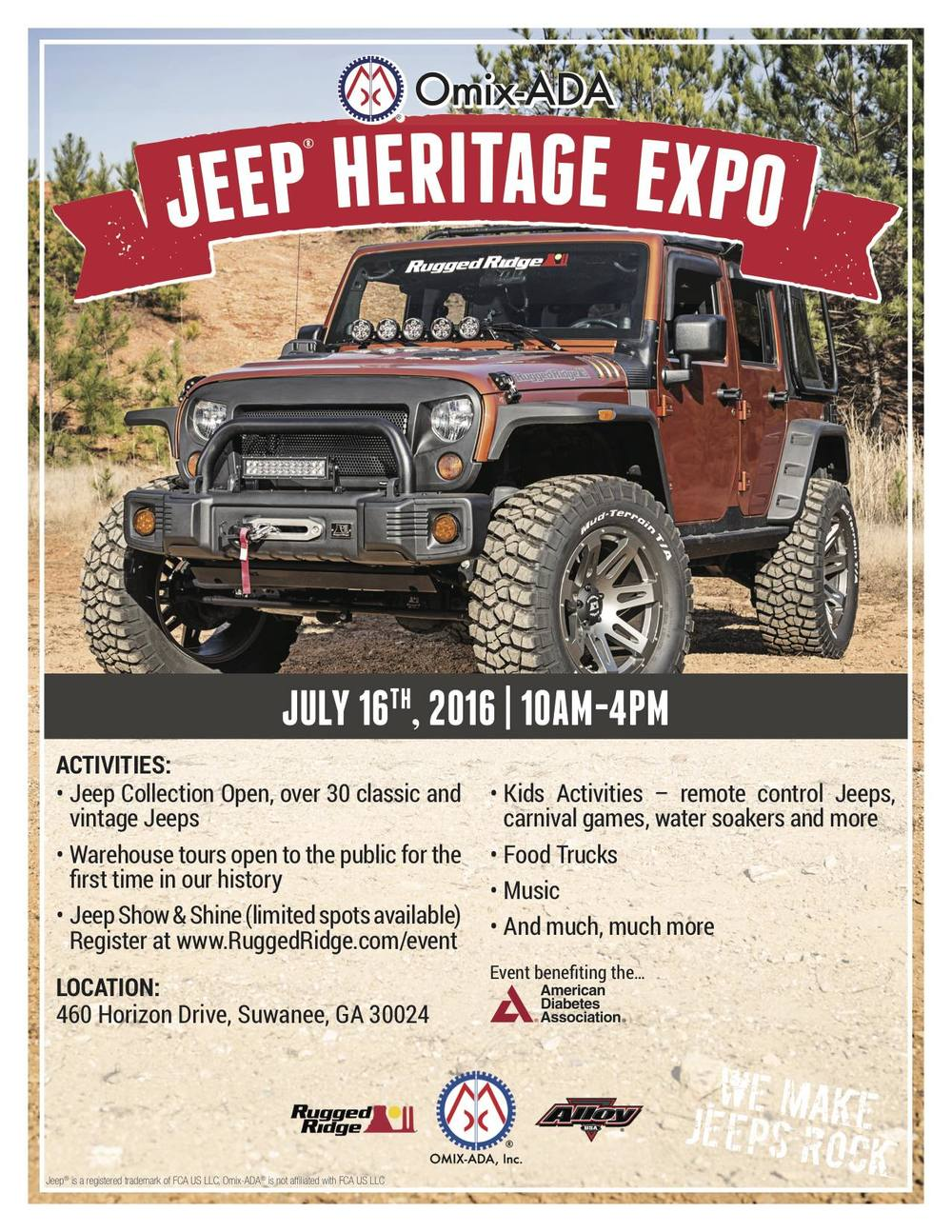 Omix ADA Jeep Heritage Festival Flyer