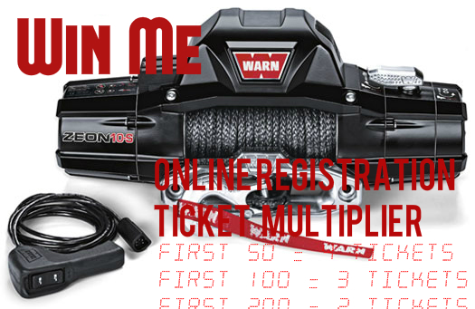 Register online and earn free raffle tickets for our WARN Winch Giveaway!