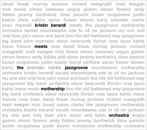 Jazzgroove Mothership Orchestra - Kristin Beradi Meets the Jazzgroove Mothership Orchestra