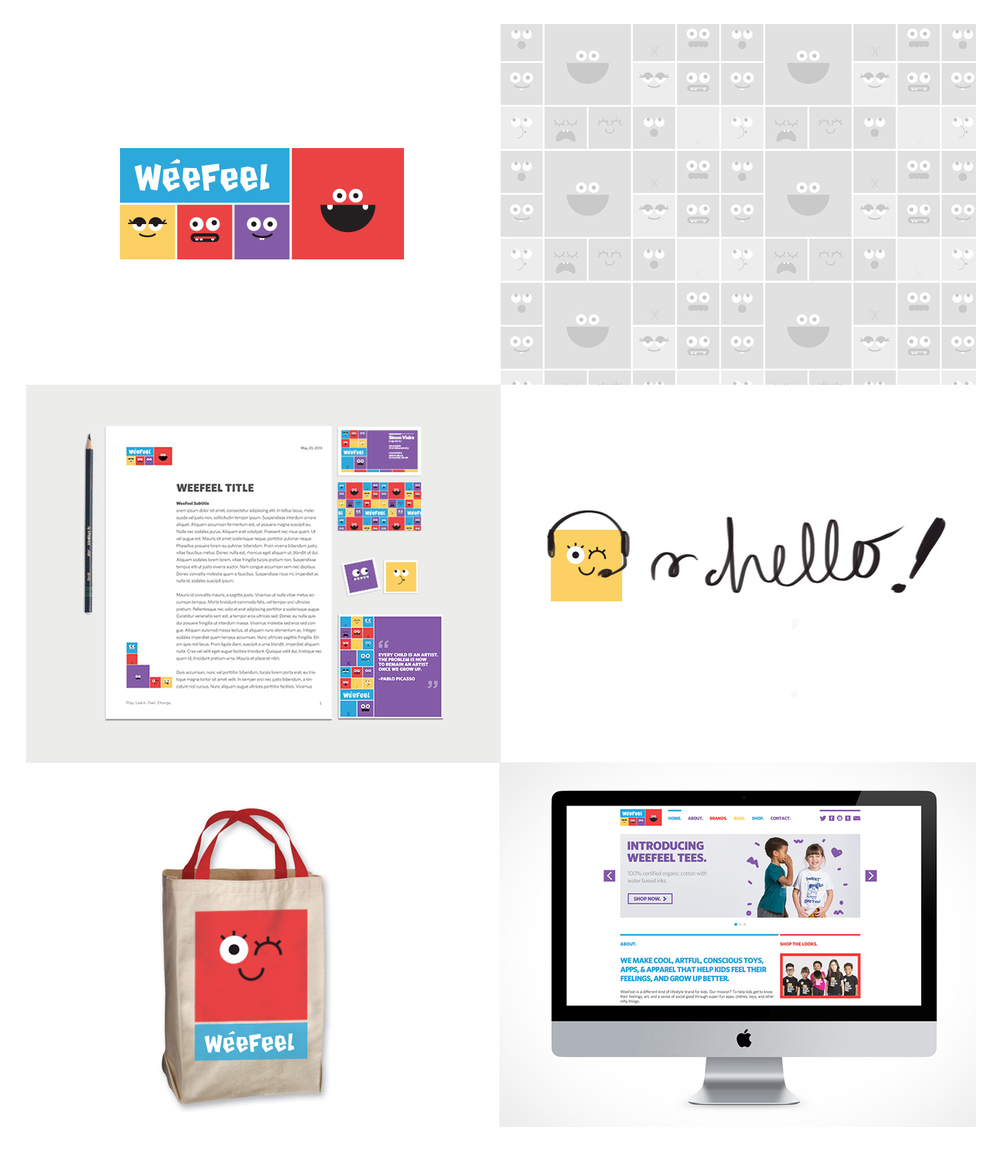 WeeFeel Branding WeeFeel makes nifty educational lifestyle children's brands and media properties. Their vision is to teach kids and adults about feelings, social good and art with a Montessori twist.