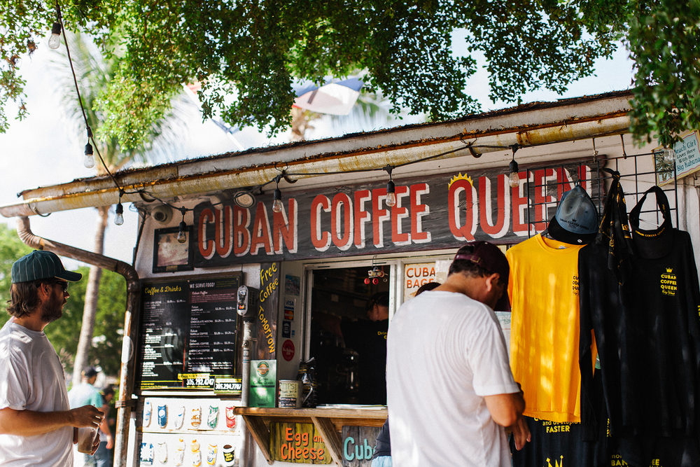 Cuban Coffee Queen has some serious strong Cuban coffee and famous Cuban sandwiches.