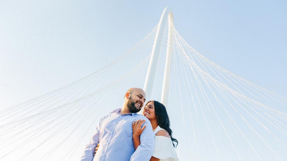 Taken on Continental Avenue Pedestrian Bridge with Margaret Hunt Hill Bridge in the Background.