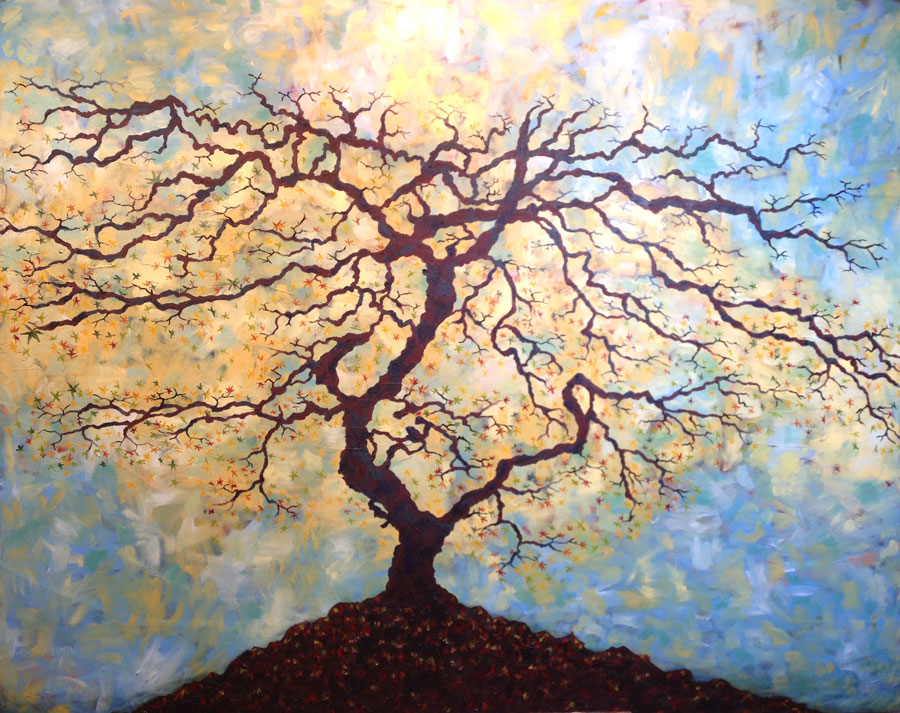 Unfinished Painting of Tree