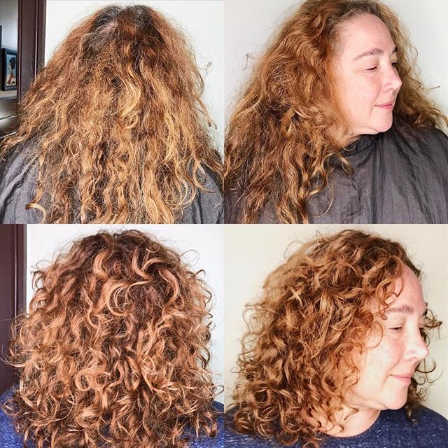 Such a beautiful transformation - Color & Deva Cut !
