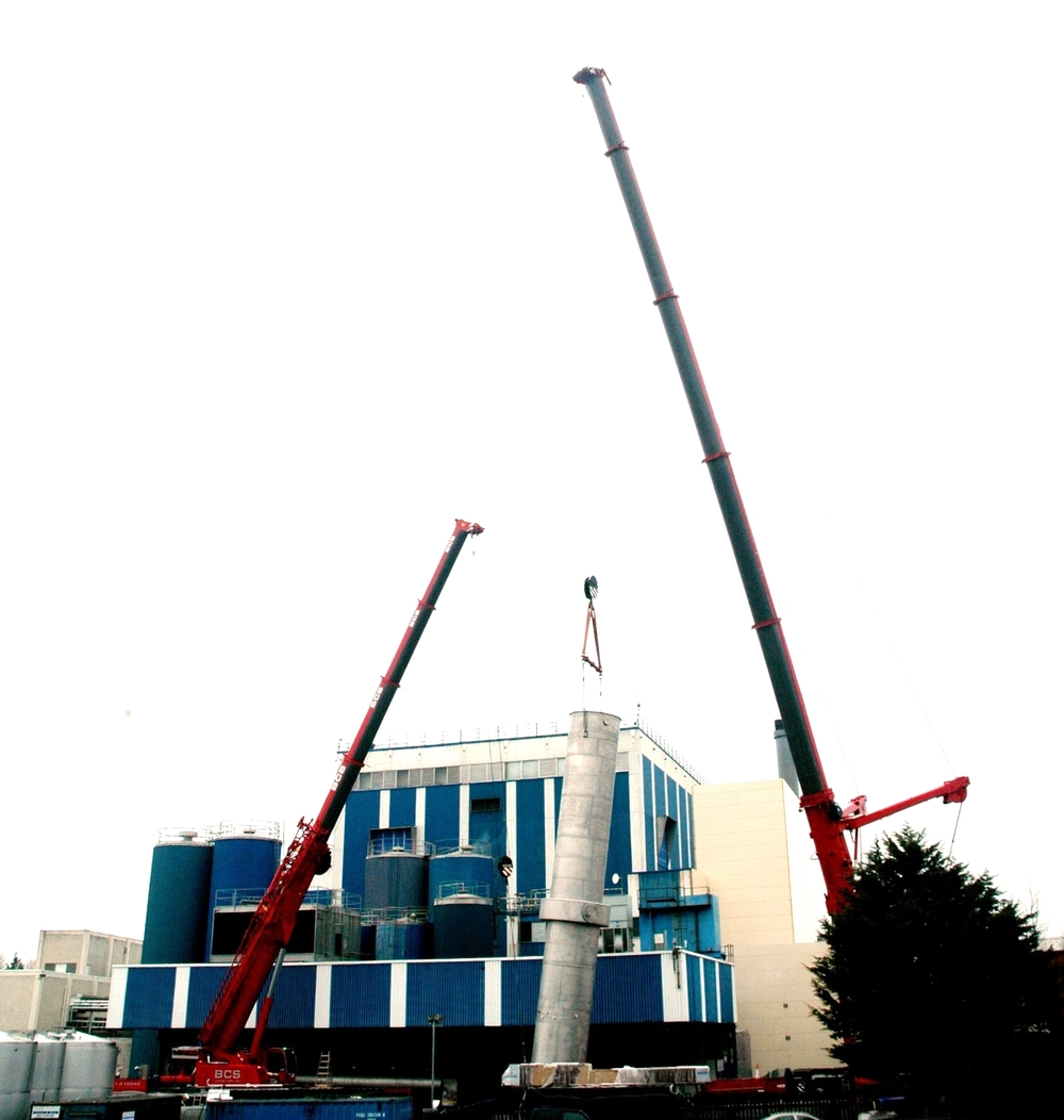 Buttimer Engineering crane lifting stainless steel installation  Arrabawn Co-o[