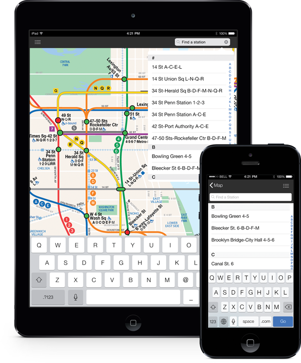 With Wheely, it's easy to search for a subway station by either its name or subway line.