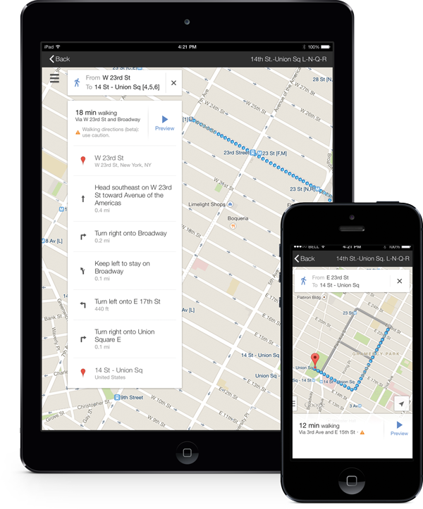Wheely is integrated with Google Maps and is also loaded with elevator GPS data for step by step navigation to elevators.