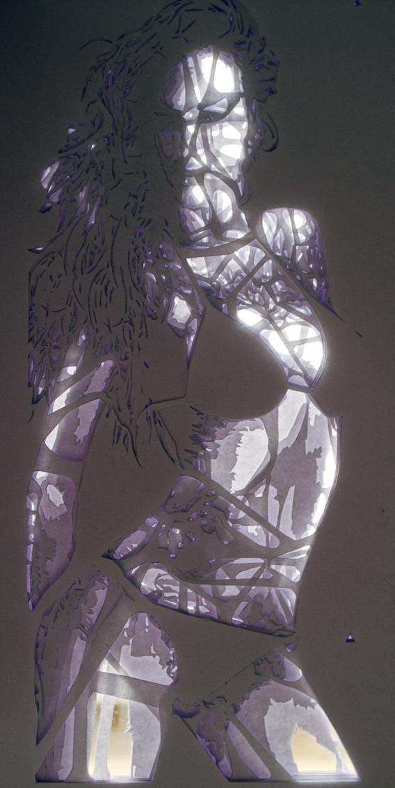 Abes Babe - stencil + light