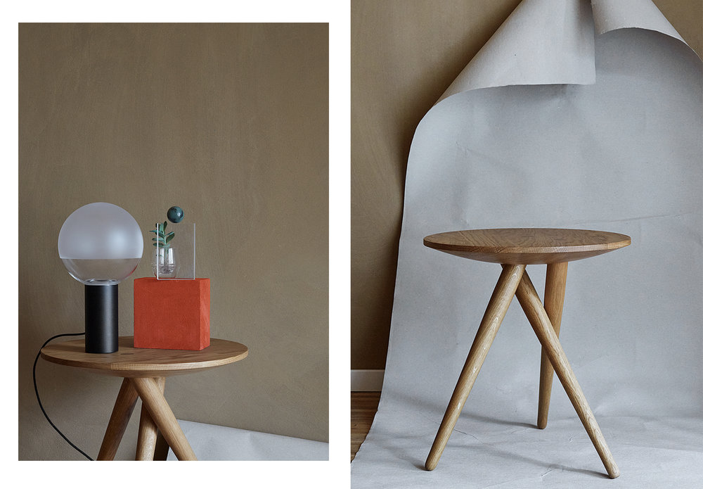 ANNE DEPPE PHOTOGRAPHY, Kuula Lamp by Uli Budde/ Thonet,  SIDE TABLE 1025 by James Van Vossel/ Thonet