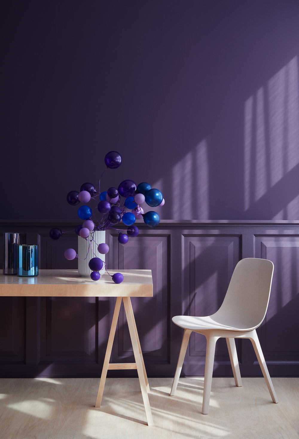GETTING FRIENDS WITH ULTRA VIOLET, PANTONE COLOR OF THE YEAR 2018  BALLOONSTYLING AND SETDESIGN: ANDREA POTOCKI / WLKMNDYS.COM, Photo: Anne Deppe