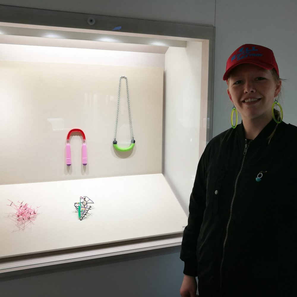 Re-handle in the Schmuck exhibition, next to pieces by Takashi Kojima. Photo: Nikki Couppee