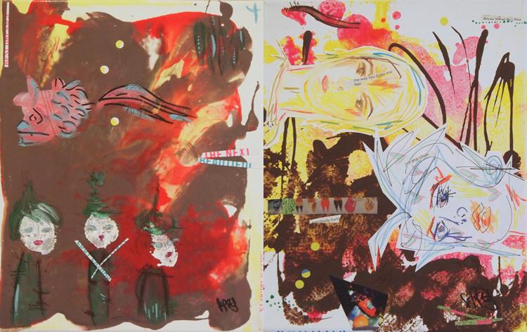 "The Next 16"" x 10"", 2 canvas panels, 2013"