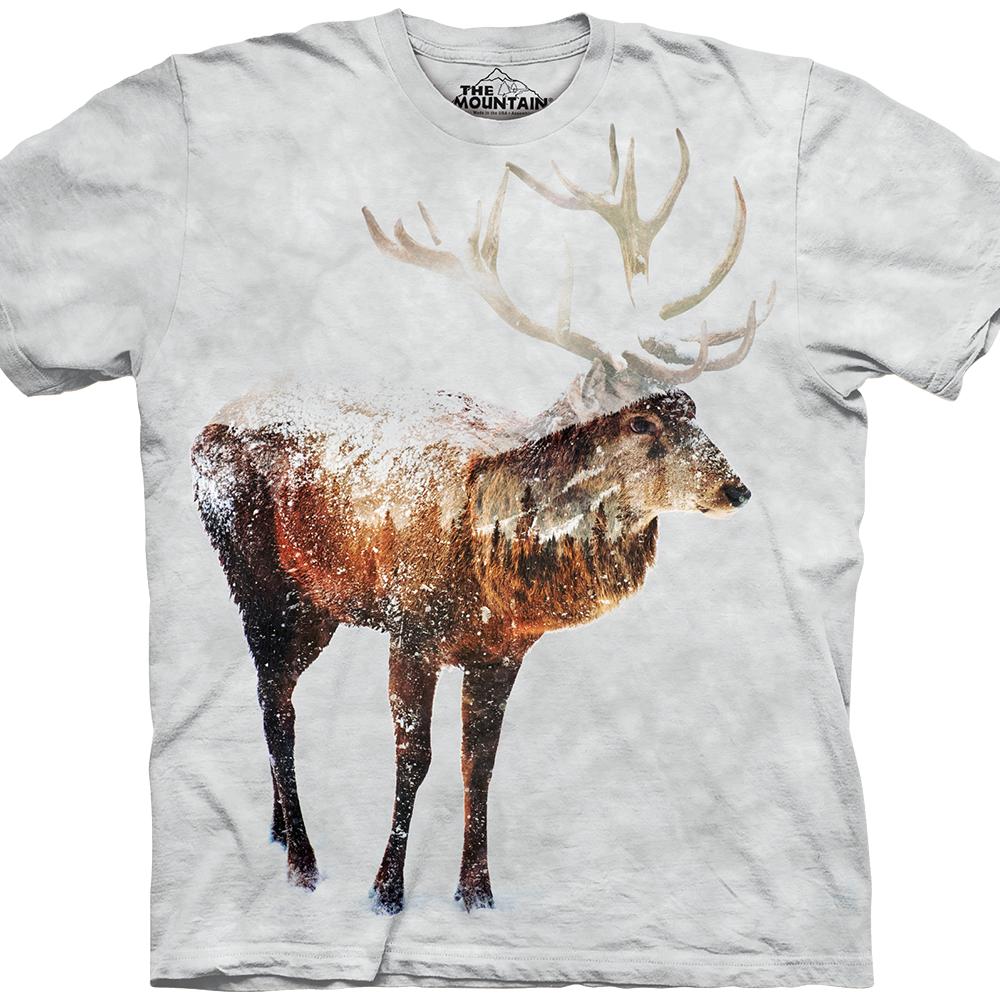 Snow Elk by Andreas Lie
