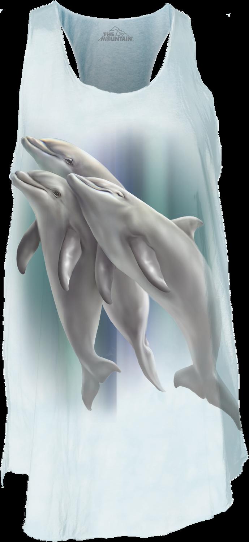 Three Dolphins Women's Flow Tank Top