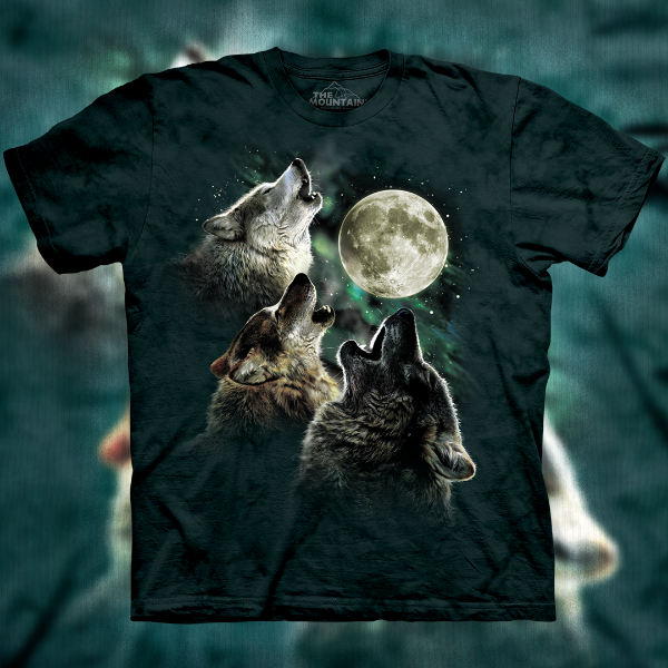 Three Wolf Moon T-Shirt as sold by The Mountain