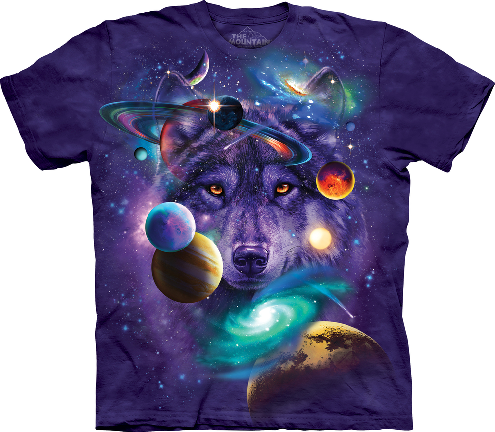 Wolf of the Cosmos T-shirt by Tami Alba