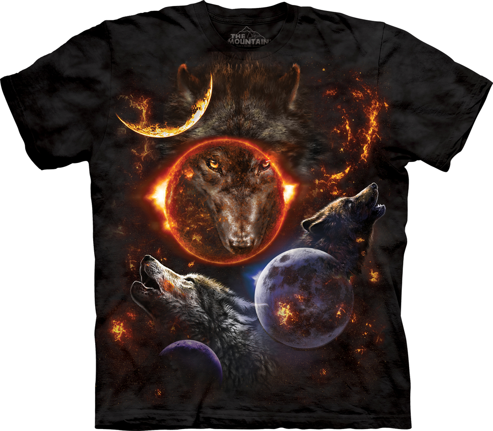 Cosmic Wolves T-shirt by Tami Alba