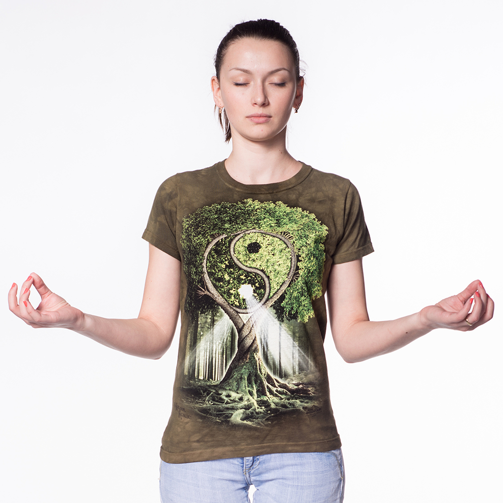 Remind Mom that life is a beautiful balancing act with this Yin Yang Wolves Women's T-Shirt by Michael McGloin.