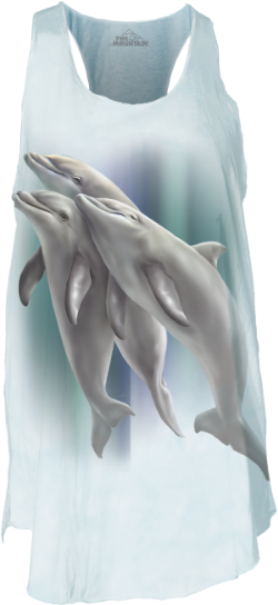 Now the new Mom in your life can take the family with her wherever she goes with this Three Dolphins Flow Tank Top by Tami Alba!