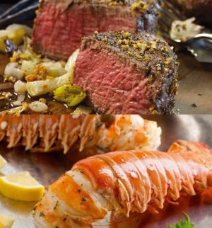 A meal fit for a Queen! Omaha Steaks offer a variety of delicious meals that will be sure to make this Mother's Day a truly special One. Pictured here is The Elegant Gift Package that comes with Two 6 oz. Lobster Tails and Two 6 oz. Filet Mignons.