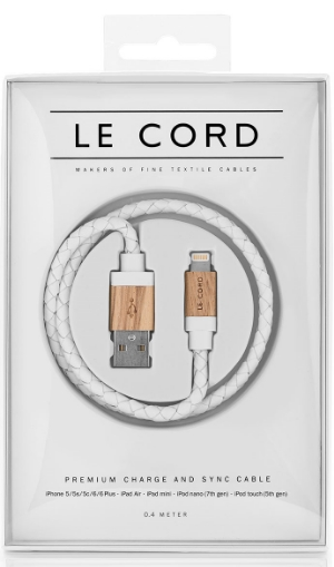 Every woman loves her accessories, and in 2016 the glamorous phone charger is the new bangle. If your Mom is a tech glamazon, then we have no doubt she'll fall in love with these designer charging cords from Le Cord.