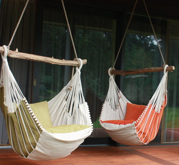 This Hammock chair from Chilloutchair is the perfect addition to your Mother's outside oasis!