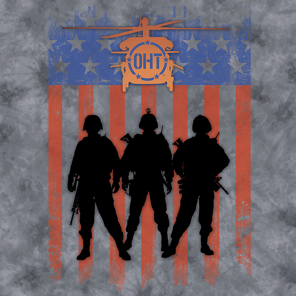 When you're in the heat of combat, those in your unit are the closest thing to family you've got. You count on each other. You stand together. Every day, in everything you do, you sacrifice for one another and for those you promised to return home to. Remember that promise. Reflect on that allegiance. Show your support for the mission of Operation Hat Trick with the Three Troops T-shirt from The Mountain®. There's nothing wrong with staying comfy as you celebrate the American way.