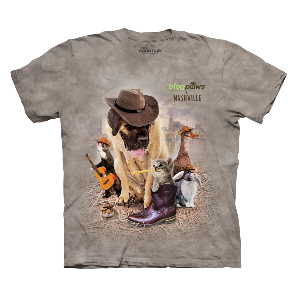 Blogpaws 2015 Conference T-Shirt by The Mountain