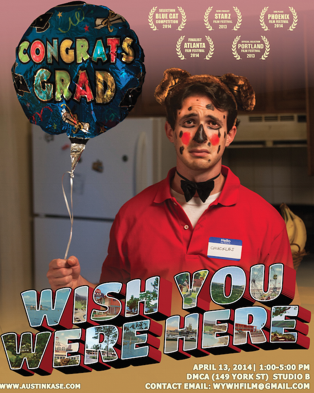 """An indie coming of age film about millenials stuck at home with their parents after graduation.  Harvard hot shot Adam Getz is forced to move back in with his parents when his wealthy Wall Street employer is exposed as a Madoff-esque con artist. While stuck in his sleepy hometown, Adam undergoes a humbling transformation as he reconnects with a ragtag group of jobless peers and an old flame. Set against the backdrop of the dismal job market facing today's college grads, """"Wish You Were Here"""" shows us their new reality of dashed dreams, missed opportunities, and second chances. In the process, it offers a fresh take on the timeless journey from innocence to maturity.  Wish You Were Here is in pre production, for more information and to support the project, please visit   http://austinkase.com/donate/"""