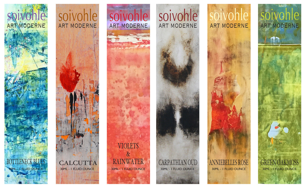 Soivohle Art Moderne - Mixed Media perfumes in 30ml atomizer flacons