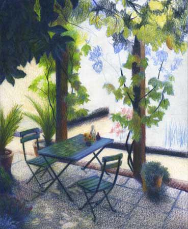 Color Pencil Landscape Art Work In Progress Summer 2